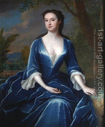Portrait of a Lady 3 by Charles Jervas - Reproduction Oil Painting