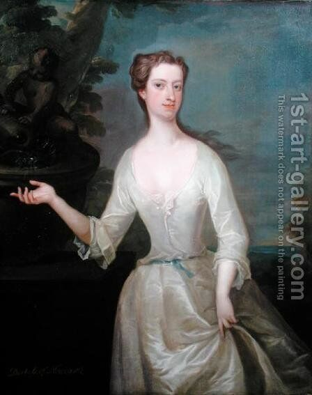 Portrait of Francis Godolphin Duchess of Newcastle by Charles Jervas - Reproduction Oil Painting