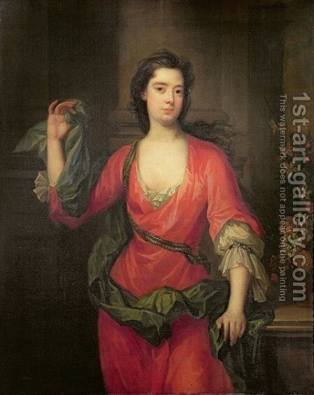 Portrait of Catherine Lady Walpole by Charles Jervas - Reproduction Oil Painting