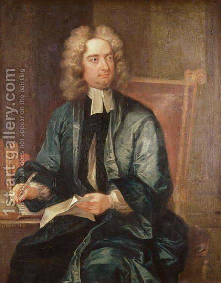 Portrait of Jonathan Swift by Charles Jervas - Reproduction Oil Painting