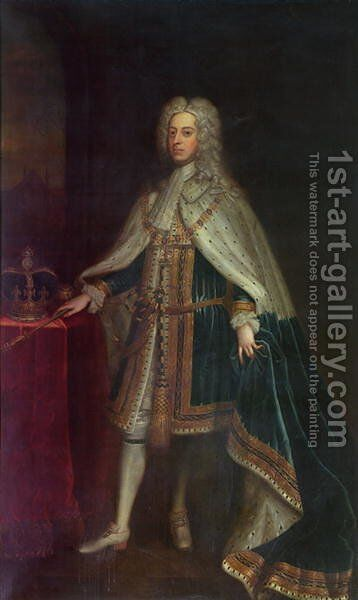 George II 1683-1760 by Charles Jervas - Reproduction Oil Painting