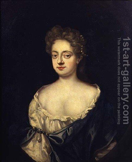 Portrait of Mary sister of Sir Robert Walpole 1676-1745 wife of Sir C Turner by Charles Jervas - Reproduction Oil Painting