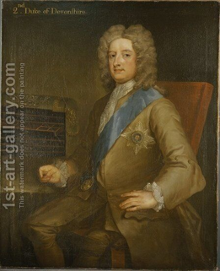 Portrait of William Cavendish 2nd Duke of Devonshire by Charles Jervas - Reproduction Oil Painting