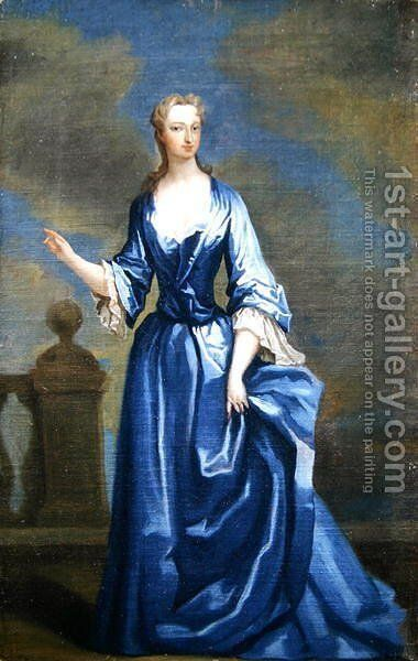 Portrait of Elizabeth Churchill 1688-1714 Countess of Bridgewater by Charles Jervas - Reproduction Oil Painting