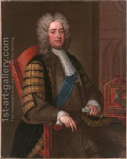 Portrait of Sir Robert Walpole KG by Charles Jervas - Reproduction Oil Painting