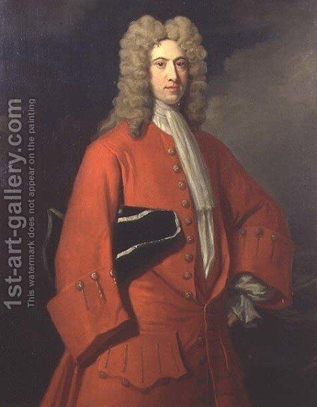 Portrait of Galfridus Walpole by Charles Jervas - Reproduction Oil Painting