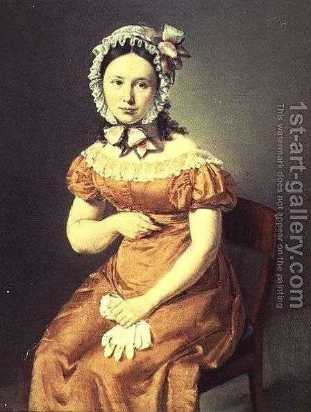 The artists wife Catharine by Christian-Albrecht Jensen - Reproduction Oil Painting