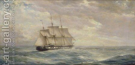 British Ship on the High Seas by Isaac Walter Jenner - Reproduction Oil Painting
