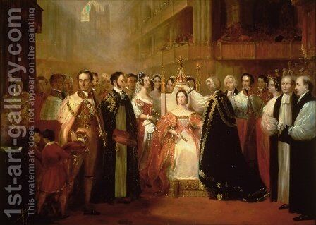 The Coronation of Queen Victoria 1819-1901 by L. and Bettridge, H. Jennens - Reproduction Oil Painting
