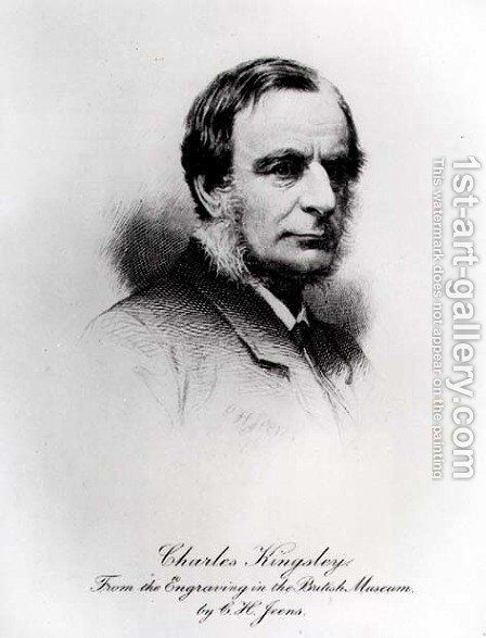 Charles Kingsley 1819-1875 by (after) Jeens, Charles Henry - Reproduction Oil Painting