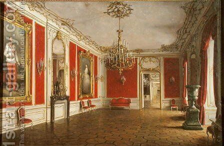 The Reception Room of the Hofburg Palace Vienna by J. Jaunbersin - Reproduction Oil Painting