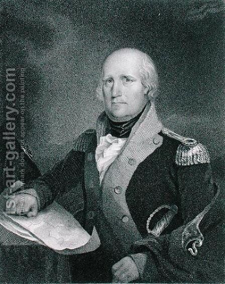 George Rogers Clark 1752-1818 by (after) Jarvis, John Wesley - Reproduction Oil Painting
