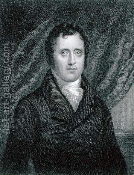 Daniel D Tompkins 1774-1825 by (after) Jarvis, John Wesley - Reproduction Oil Painting