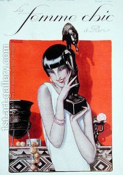 Front cover of La Femme Chic a Paris magazine May by A. and Chambry, E.P. Jarach - Reproduction Oil Painting