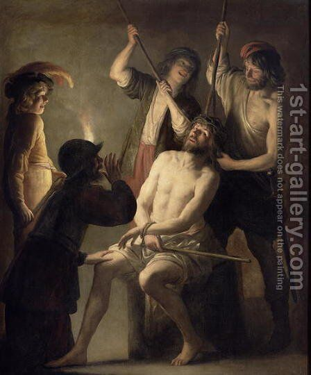 The Crowning with Thorns by Jan Janssens - Reproduction Oil Painting