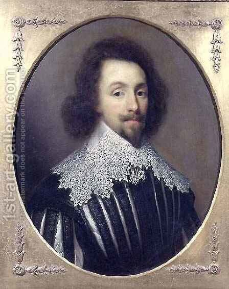 Portrait of King Charles I of Great Britain and Ireland 1600-49 by Cornelius Janssens van Ceulen - Reproduction Oil Painting