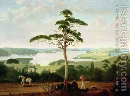 Sydney Harbour looking towards the Heads by Jacob Janssen - Reproduction Oil Painting