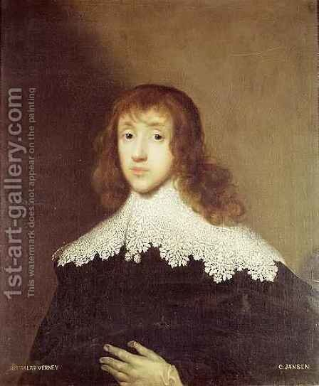 Portrait of Sir Ralph Verney 1613-96 by Cornelius Jansen - Reproduction Oil Painting