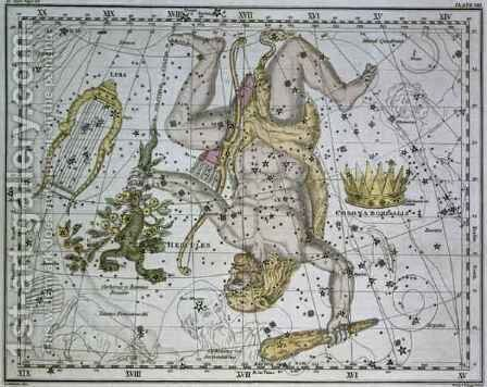 Hercules from A Celestial Atlas by A. Jamieson - Reproduction Oil Painting