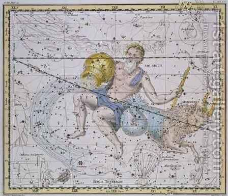 Aquarius and Capricorn from A Celestial Atlas by A. Jamieson - Reproduction Oil Painting
