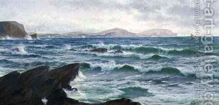 A Coastal Scene by David James - Reproduction Oil Painting