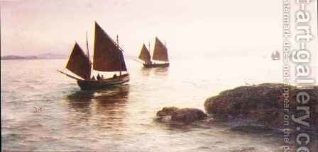 Fishing off the Coast of Penzance by David James - Reproduction Oil Painting