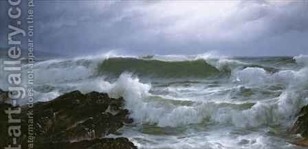Rough Sea by David James - Reproduction Oil Painting