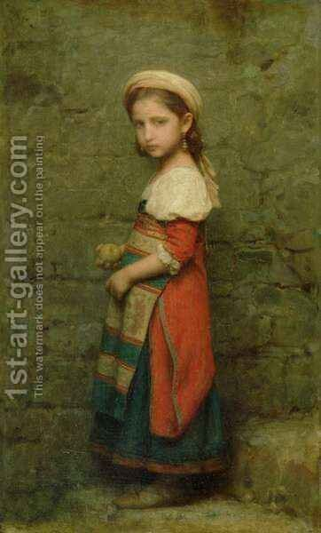 Italian Girl by Charles François Jalabert - Reproduction Oil Painting