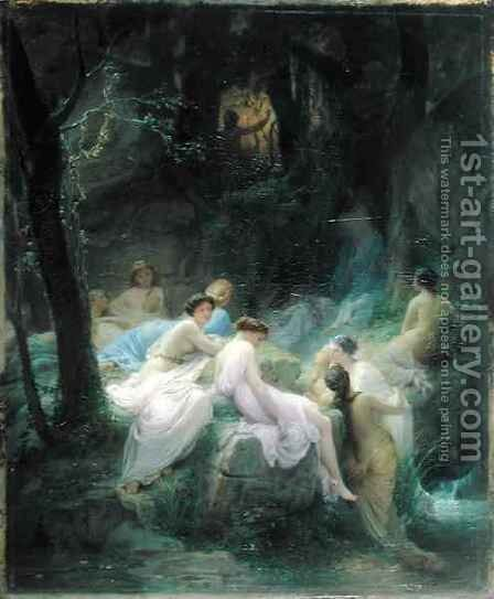 Nymphs Listening to the Songs of Orpheus 2 by Charles François Jalabert - Reproduction Oil Painting
