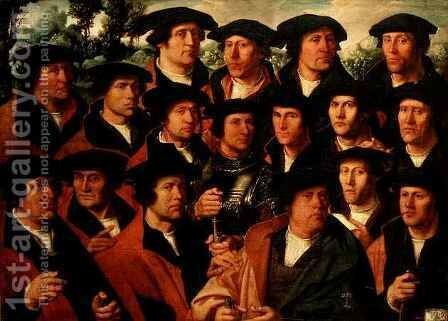 Group Portrait of the Shooting Company of Amsterdam by Dirck Jakobsz - Reproduction Oil Painting