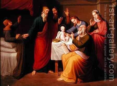 The Circumcision of St John by Gustav Jager - Reproduction Oil Painting