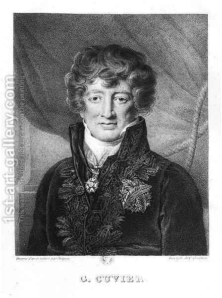 Portrait of Georges Cuvier 1769-1832 by (after) Jacques - Reproduction Oil Painting