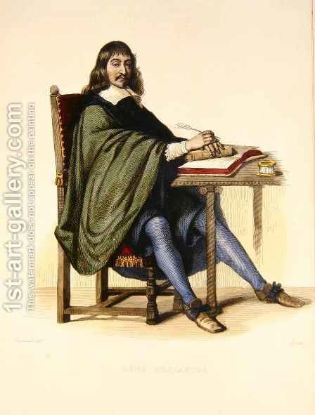 Rene Descartes 1596-1650 by (after) Jacquand, Claude - Reproduction Oil Painting