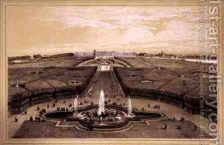 General View of the Park and Palace at Versailles by Jean Jacottet - Reproduction Oil Painting
