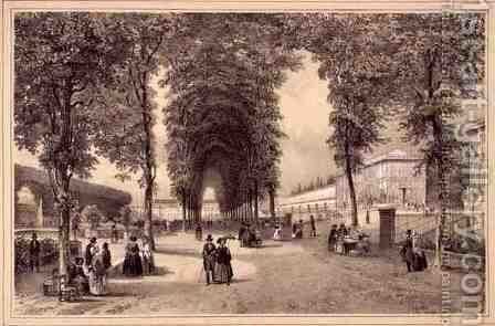 A View of the Jardins des Plantes by (after) Jacottet, Jean - Reproduction Oil Painting