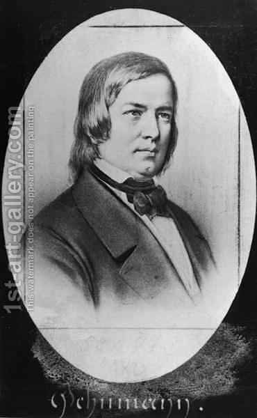 Robert Schumann 1810-56 by Jacotin - Reproduction Oil Painting