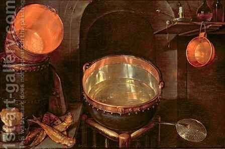 Still Life of Kitchen Utensils by Cornelis Jacobsz Delff - Reproduction Oil Painting