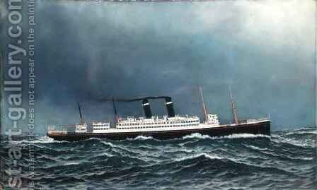 The Steamship Lapland by Antonio Jacobson - Reproduction Oil Painting