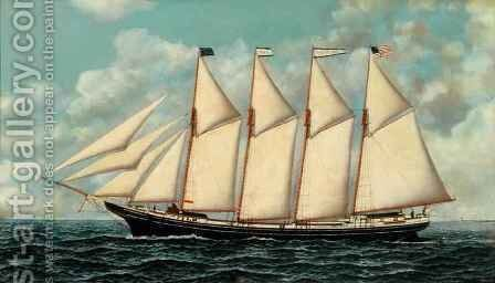 The Schooner Dorothy Belle by Antonio Jacobsen - Reproduction Oil Painting