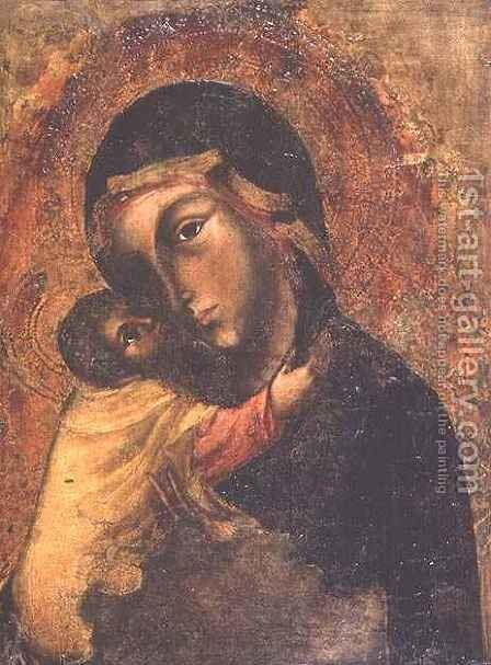 Madonna and Child by del Fiore Jacobello - Reproduction Oil Painting