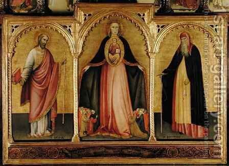 Virgin and Child with St James the Greater and St Anthony by del Fiore Jacobello - Reproduction Oil Painting