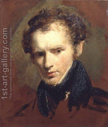 Portrait sketch of Richard James Lane 1800-72 by John Jackson - Reproduction Oil Painting