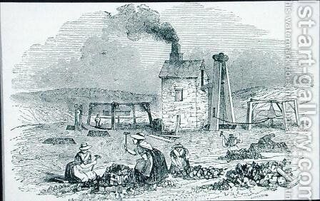 Breaking and Sorting Copper Ores from Cyclopaedia of Useful Arts and Manufactures by J. Jackson - Reproduction Oil Painting