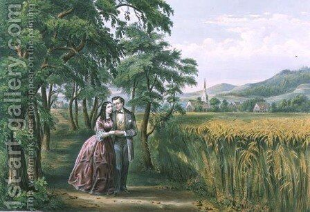The Four Seasons of Life Youth The Season of Love by (after) Ives, J.M - Reproduction Oil Painting