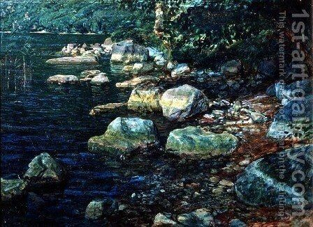 River Scene in Palazzuolo by Alexander Ivanov - Reproduction Oil Painting