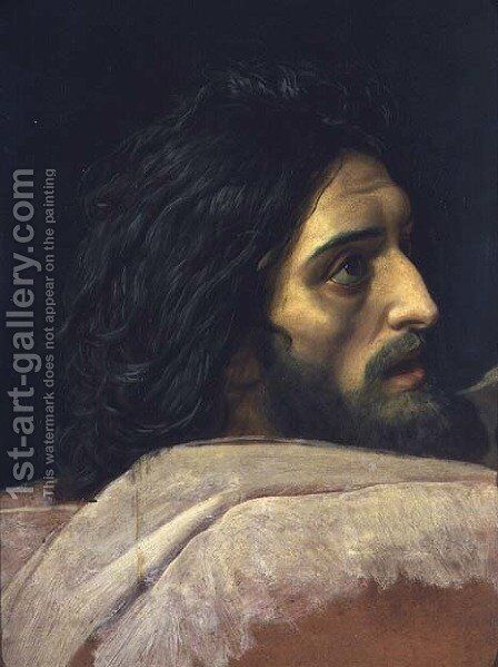 The Head of John the Baptist by Alexander Ivanov - Reproduction Oil Painting
