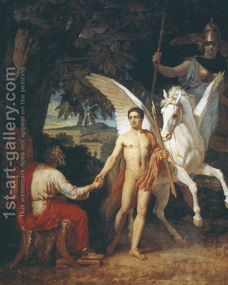 Bellerophon Leaving to Fight the Chimera by Alexander Ivanov - Reproduction Oil Painting