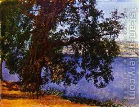 Tree in the Shade above the Water near Castel Gandolfo by Alexander Ivanov - Reproduction Oil Painting