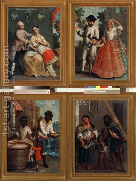 Four Different Racial Groups 2 by Andres de Islas - Reproduction Oil Painting