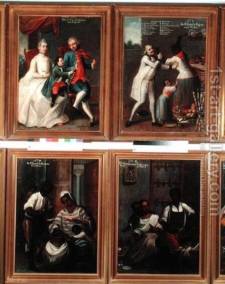 Four Different Racial Groups 3 by Andres de Islas - Reproduction Oil Painting